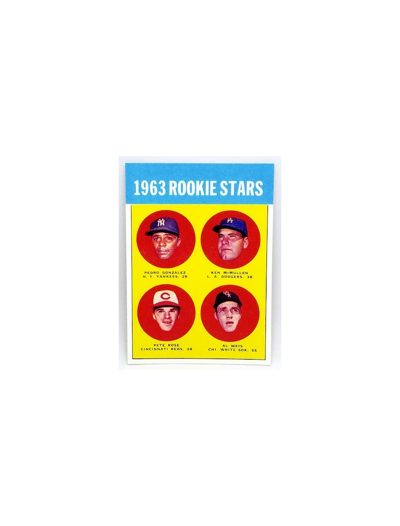 Sale Ends Soon 1963 Topps 537 Pete Rose Rookie Card Reds Hit King Read