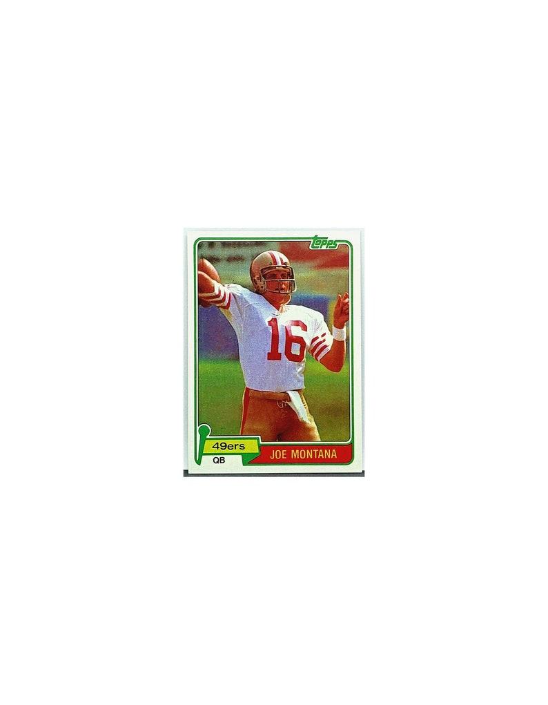 Sale Ends Soon 1981 Topps Joe Montana Rookie Card 216 San Francisco 49ers Rc Read