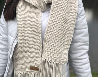 The Bradley Scarf. Fringed, opened ended scarf.