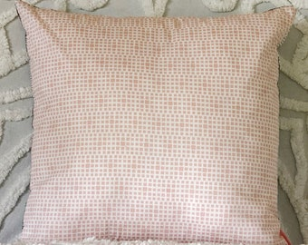 Blush pillow cover, pink white cushion cover, pink and black pillow, pink geometric cushion, blush interiors, modern boho, pale pink decor