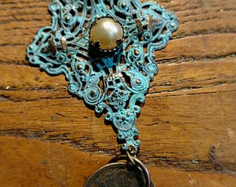 Vintage Token Necklace