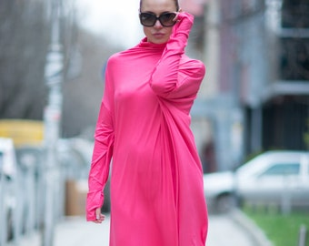 Trendy plus size clothing, Maxi Dress, Long Dress, Plus size cocktail dress, Maxi Dress Turtlenecks, Long Sleeves Dress by EUG - DR0084TR