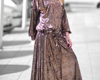 d218d51e954 Plus Size Maxi Dress Winter Extra Long Dress Plus Size