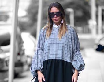 Plus Size Maxi Dress, Winter Extra Long Dress, Plus Size Cotton Dress, Long Dress for Women, Casual Dress, Winter Dress by EUG - DR0144PM