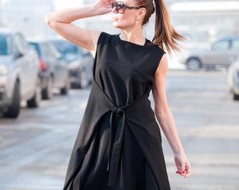 b6100cb230 Black Plus Size Pinafore Dress