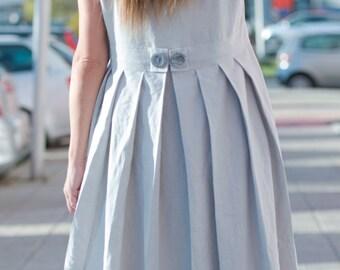 Light Grey Linen Dress, Summer Maxi Dress for Women, Plus Size Maxi, Loose Dress, Long Dress, Summer Maxi Dress, Casual Dress - DR0171LE