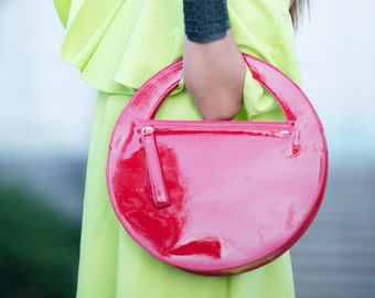 Clutch purse, Red Leather Clutch Hand Bag, High Quality Italian Clutch Purse, Genuine Leather Bag, Hand Made Accessory - BA0868LDL