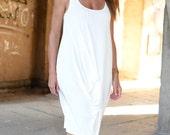 White summer dress, Sleeveless Woman dress, White Maxi Dress, Fashion clothes for women by EUG FASHION - DR0172JE