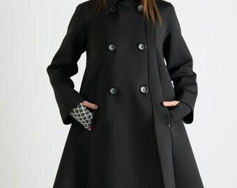 8892d8cbae35 Women Black Trench Coat