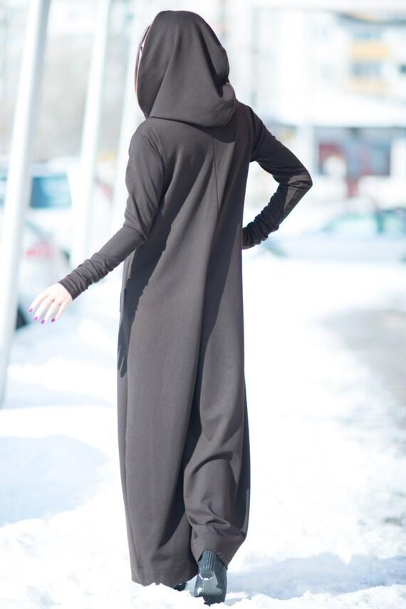 Maxi JP0345Pm Brown Jumpsuit jumpsuit Casual FASHION Hoodie Loose Cotton women Drop Jumpsuit Crotch EUG by Harem Jumpsuit Hooded YwF4qFT