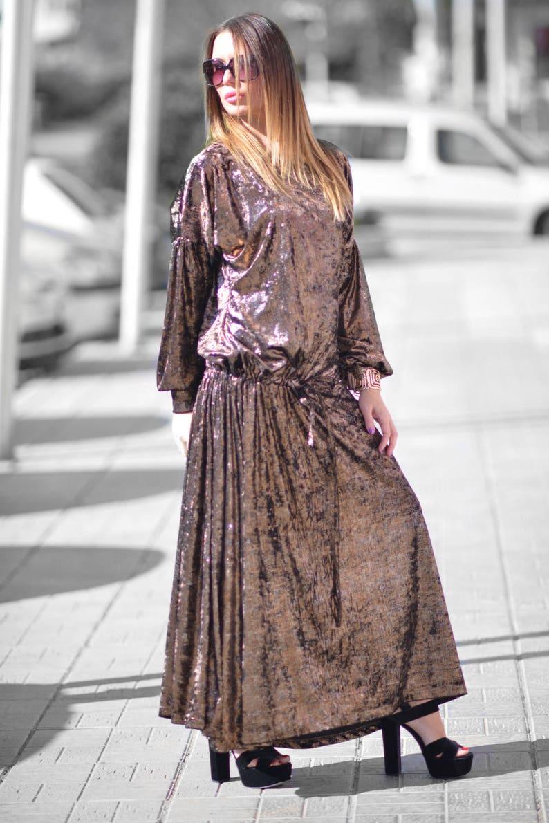Sale Long Plus Size Maxi Dress, Extra Long Dress, Plus Size Velvet Dress,  Elegant Velvet Dress, Long Dress for Women by EUG - DR0151VE