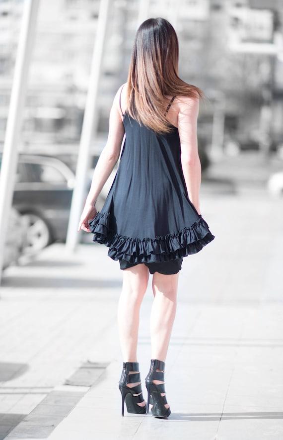 Womens Maxi Sleeveless Tank Loose Top Oversize Party Dress Top Asymmetrical TP0446TR Top Top Clothing Ruffles Size Cotton Plus 5pwXxqO84