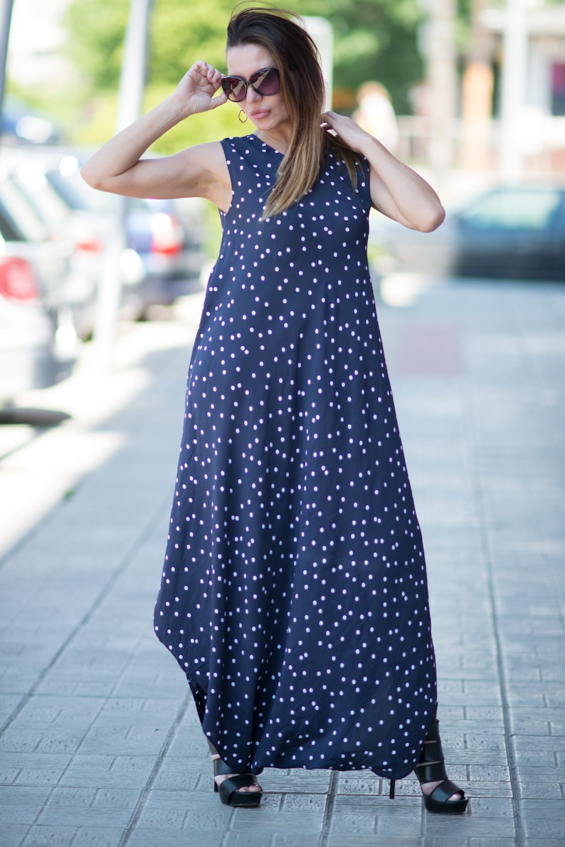 6cdcfdefc26 Maxi dress summer, Polka Dots Harem Jumpsuit, Women Jumpsuit, Rompers for  girls, Plus Size Overall, Maxi Jumpsuit by EUG fashion - JP0355CV