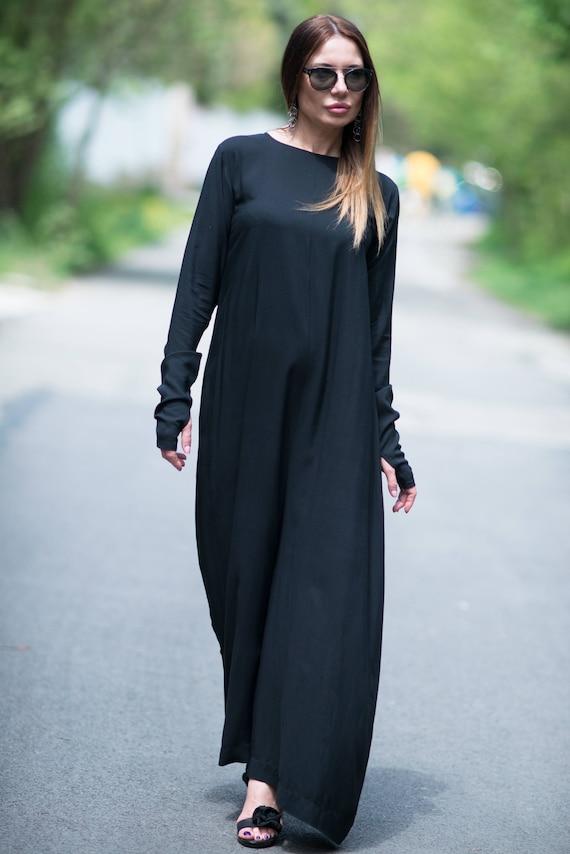 Black Drop Sleeve Long JP0358CV Women Solid Jumpsuit Size Wide Crotch Jumpsuit women Jumpsuit Plus Cotton jumpsuit Jumpsuit EUG by XzqvfEW