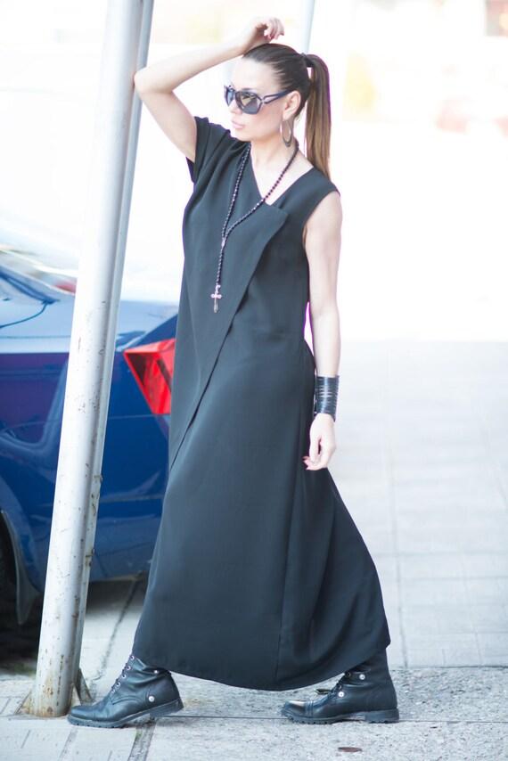 Long Kaftan Long for Dress Dress Kaftan Kaftan Black KA0327GE Womens Handmade Dress Abaya Dress Womens Maxi Loose Fit Black Sleeved qfSnB