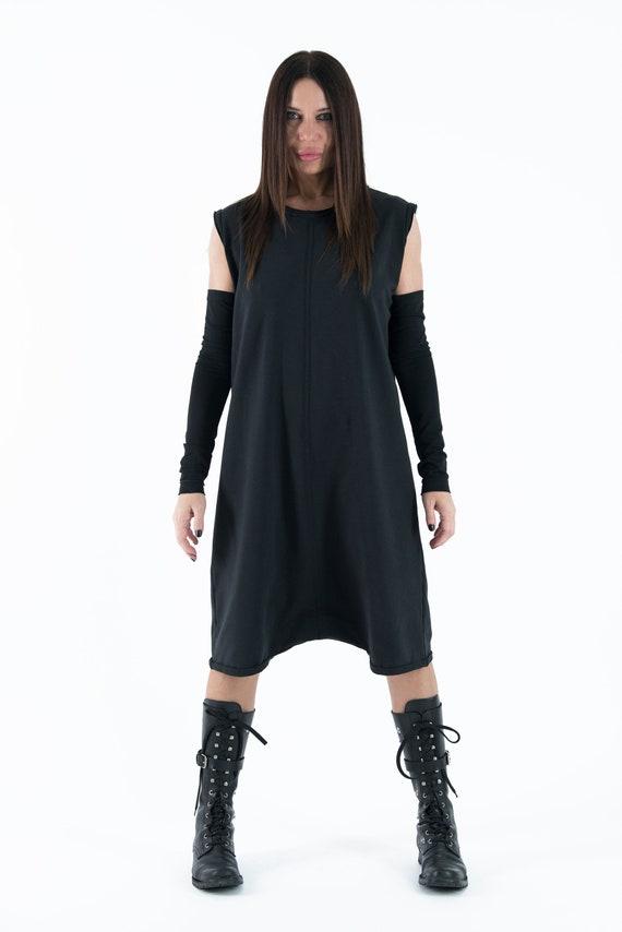 Cotton Black Jumpsuit Union EUG Jumpsuit Crotch Drop Women suit Zipper JP0372W2 by 1CqCOYpx