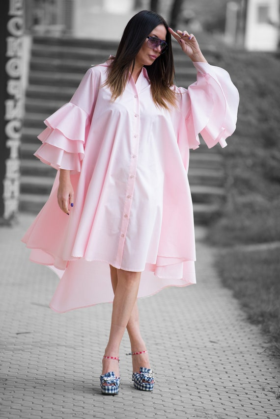 Size for Pink Loose Day Dresses Summer DR0168CT Dress by Dress Maxi Dress Women Summer Dress Maxi Wear Cotton EUG Dress Baby Plus qSY7Ftx