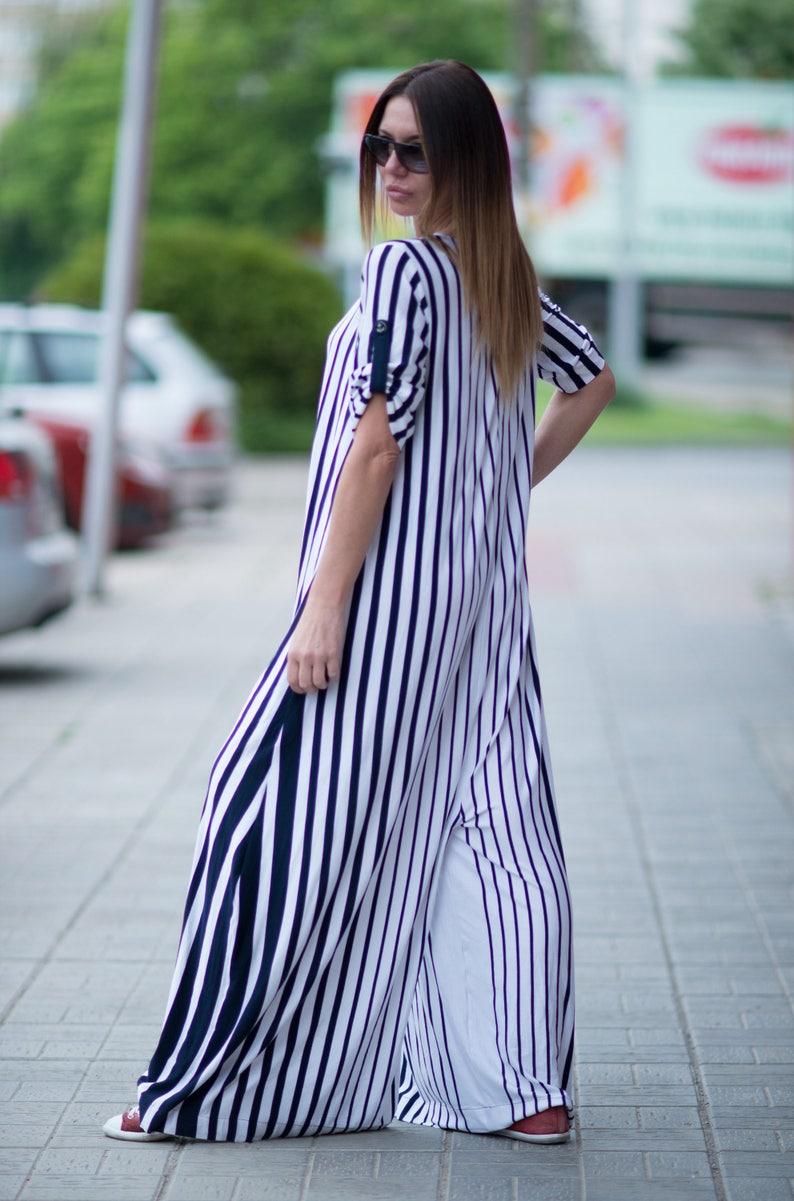 03594caa66ca Womens Jumpsuit White Navy Blue Striped Plus Size Jumpsuit