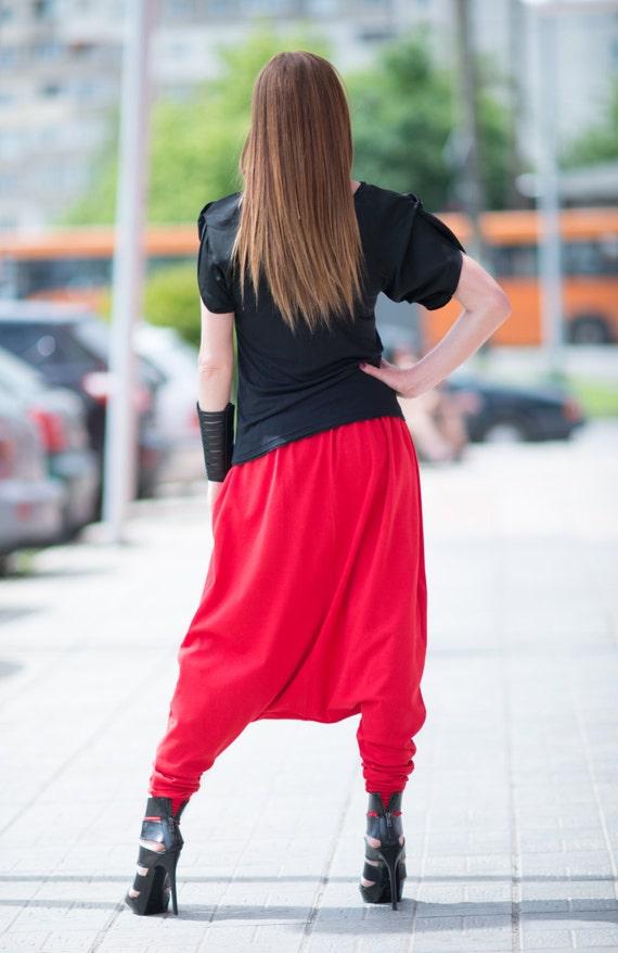 Pants Size PA0774TR Red by Plus Women's Drop Tricot Sports Clothing Pants Clothing EUGFashion Red Crotch Elegant Pants Pants EwqFFWzxTX