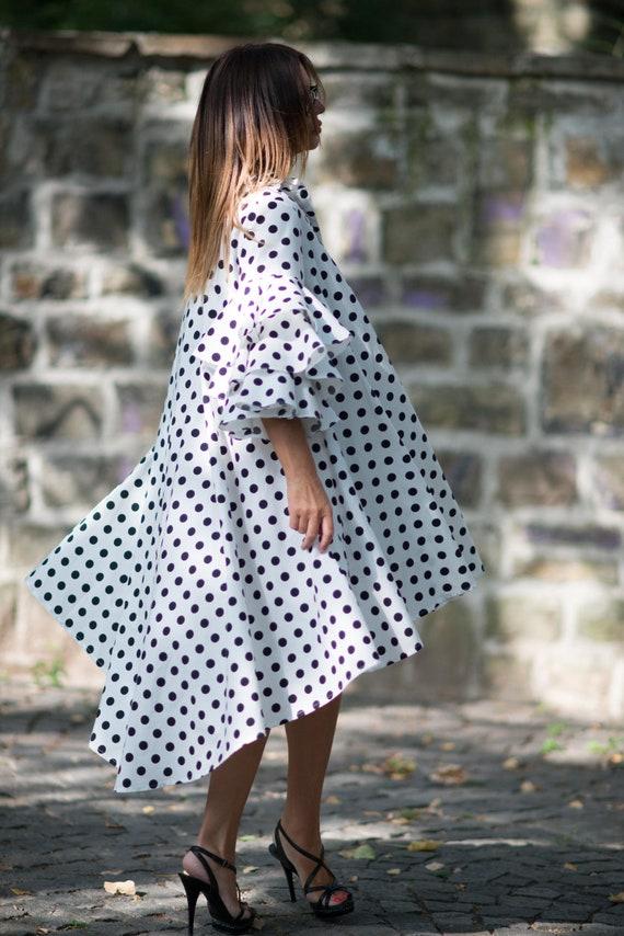 Dress Women Cotton Dresses Dress Summer for Dress Ladies Maxi Dress Loose Polka Dress DR0168CT Maxi Summer Size Dots Plus OwWSX