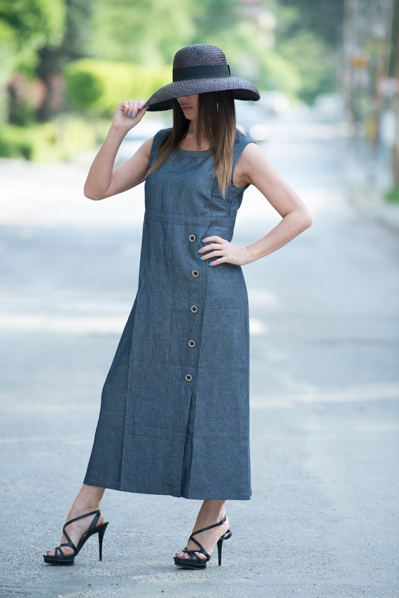 DR0319LE Dress Women Linen Size Dress Summer Plus Woman Dress a8waUH