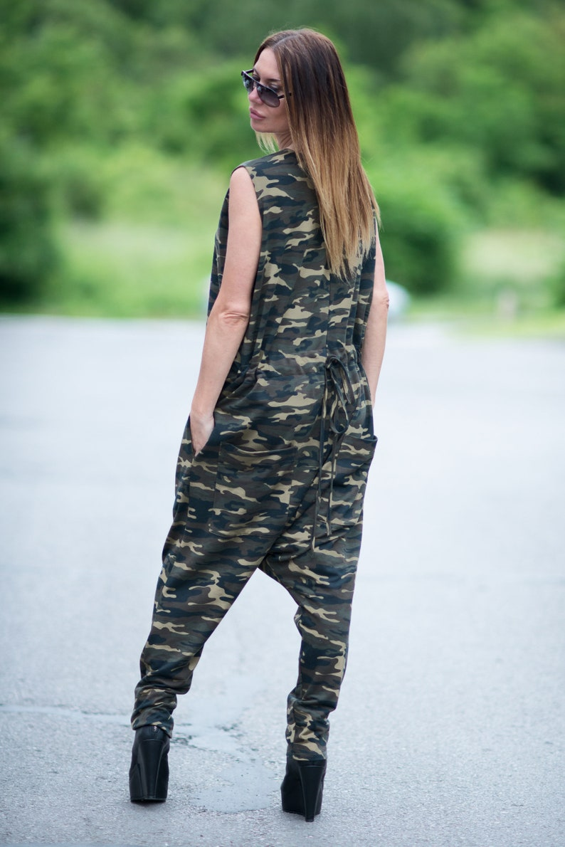 8ac019298c69 Camo clothes women Urban camouflage casual Jumpsuit Women