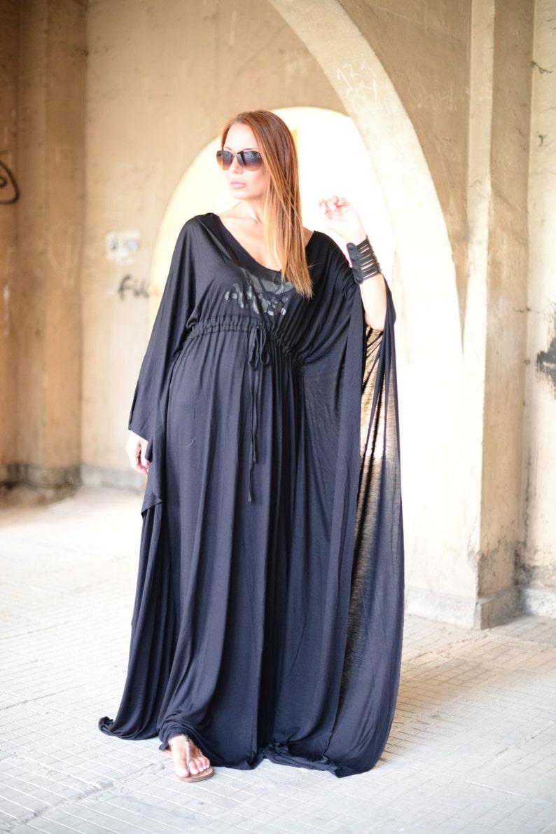 cde8e7721aa4d9 Clothing Maxi Dress Summer Long Dress Black Kaftan Dress