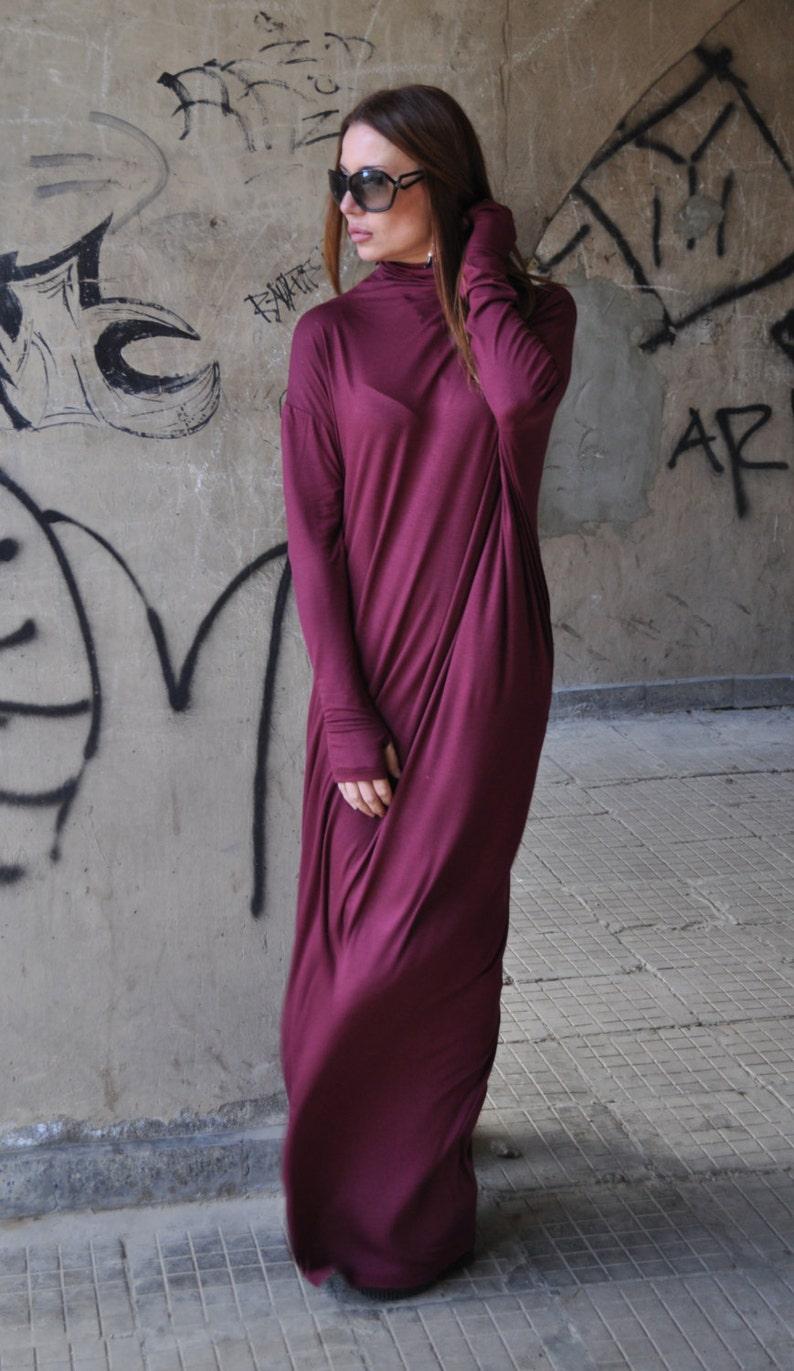 224c56371361 Maxi Dress Burgundy Dress Casual Summer Long Marsala Dress