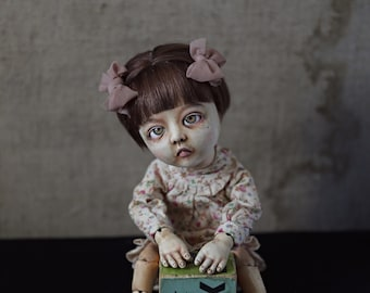 SOLD. handmade doll, collectible doll, bjd doll. baby doll. balljointed dolls