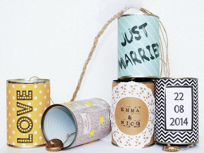 Hochzeitsdosen Wedding Cans  vintage Autoschmuck aus Dosen image 0