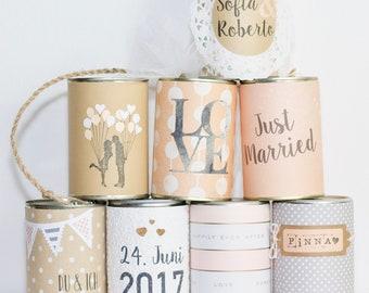 Wedding Cans XL  - Hochzeitsdosen zur Hochzeit individuell gestaltet