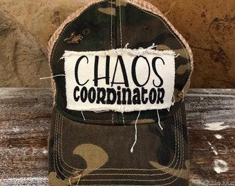 9c37facf296d19 Chaos Coordinater Hat, Funny Hat, Women's Hat, Women's Hat, Women's Cap, Baseball  Hat, Flag Hat, Ball Cap, Distressed Hat, Bohogroove