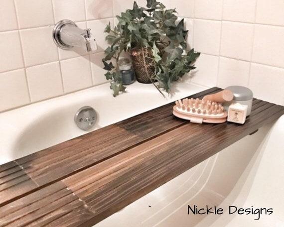 Vassoio Vasca Da Bagno : Vassoio di legno recuperato vasca vasca da bagno vassoio etsy