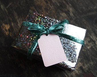Pearlescent Baby Pink Gift Tags x 10
