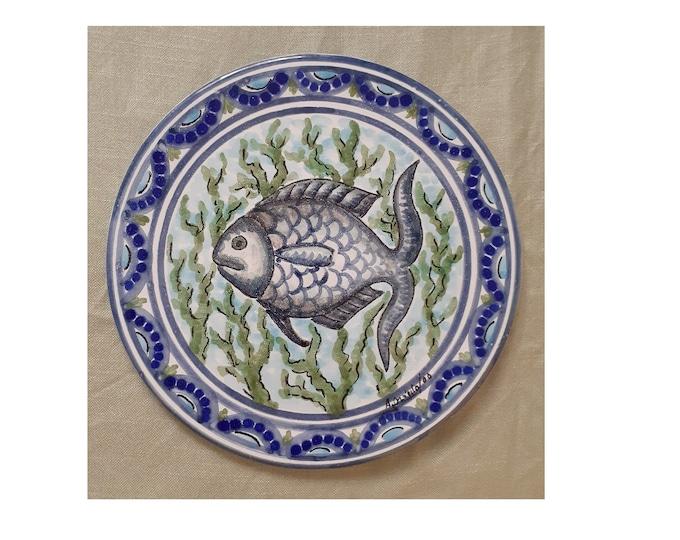Wall Plate, Ceramic Wall Plate, Fish Plate