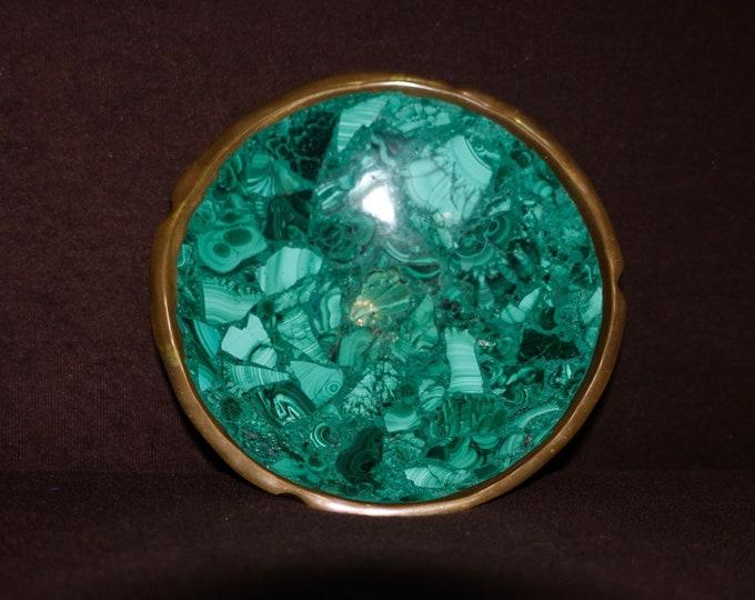 Malachite Plate, Malachite Jewelry ish, Art Deco Saucer, Green Saucer