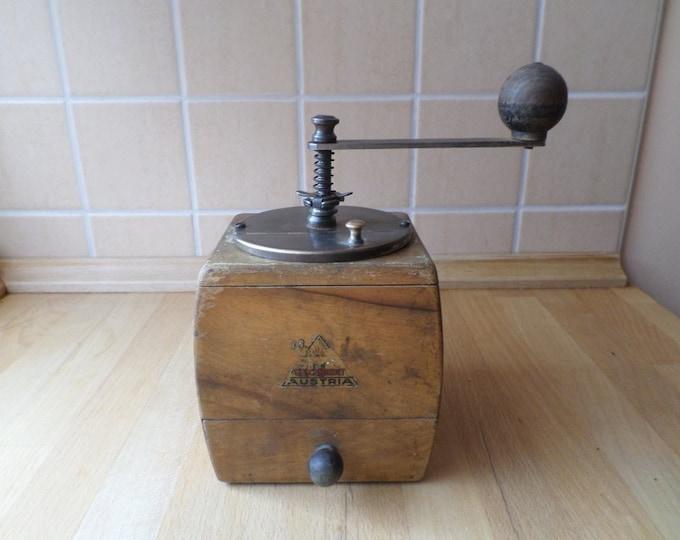 Coffee Grinder, Wood Coffee Grinder, Folk Pepper Mill Grinder