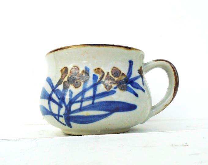 Handpainted Pot, Coffee Pot, Stoneware Pot, Vintage Pot, Stoneware Mug