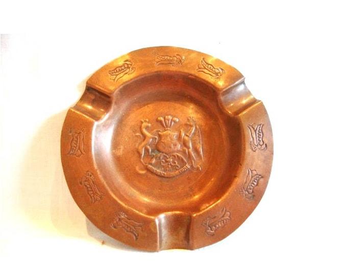 Brass Ashtray, Vintage Ashtray, Ashtray, Rustic Ashtray, Brass Ashtray