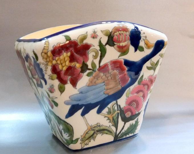 Zsolnay Art Nouveau Vase, Zsolnay Bird Vase, Zsolnay Julia Vase, Art Nouveau Zsolnay