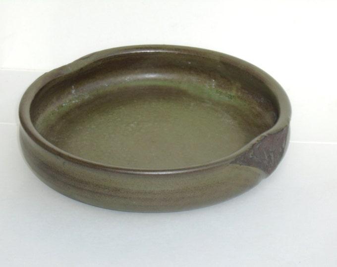 Green Ceramic Plate, Fürstenberg Plate, Furstenberg Bowl, Kernen Winstadt, German Plate, German Pottery