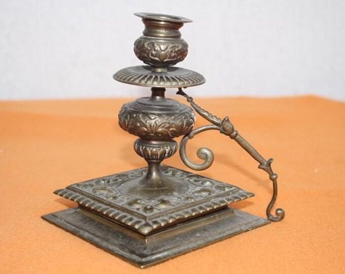 Brass Candle Holder, Antique Candle Holder