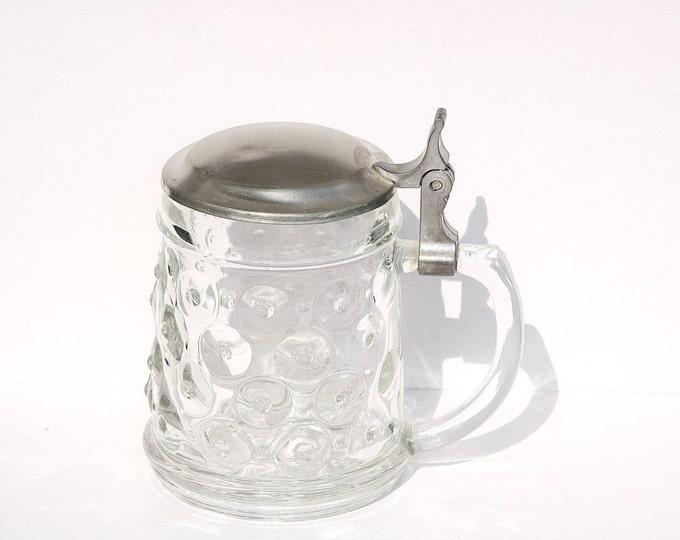 Glass Beer Mug, Glass Stein, Glass Mug, German Glass, German Beer Stein, German Mug, Beer Mug, Bier Stein, German Mug
