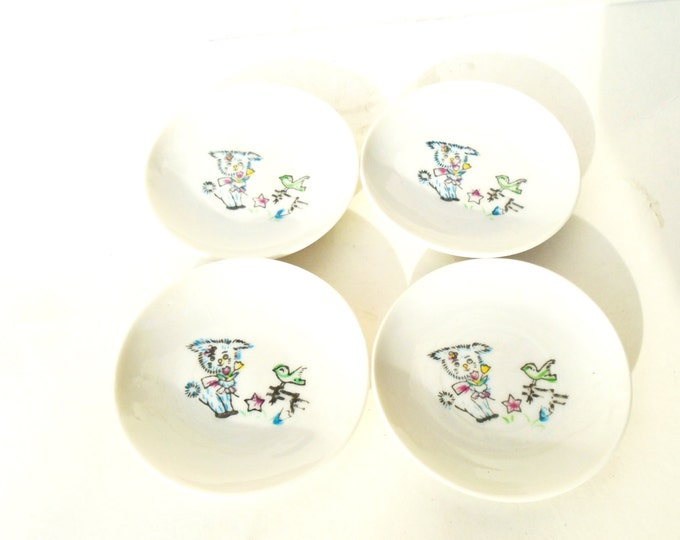 Porcelain Plate, Japanese Plate, Mini Japanese Plate, Child Plate, Made in Japan, Tea Cookies Plate