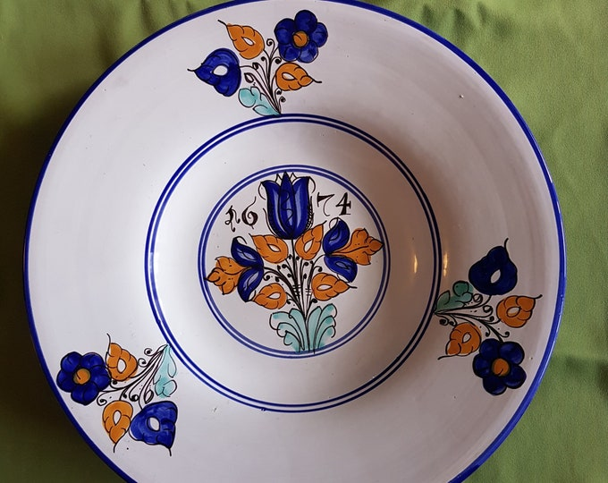 Blue Plate, Museum Copy Plate, Rustic Plate