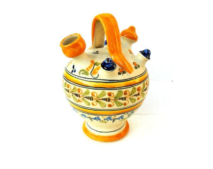 Tulip Vase, Italian Vase, Six Hole Vase, Handpainted Vase, Folk Tulip Vase