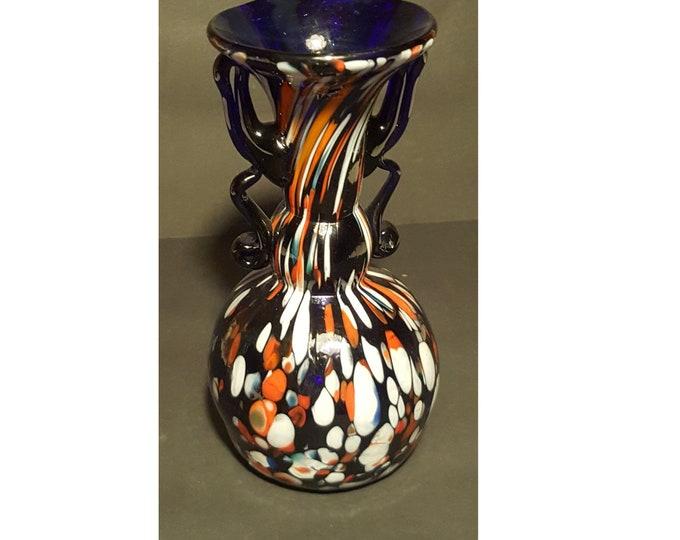 Murano Vase, Murano Glass Vase, Mosaic Vase