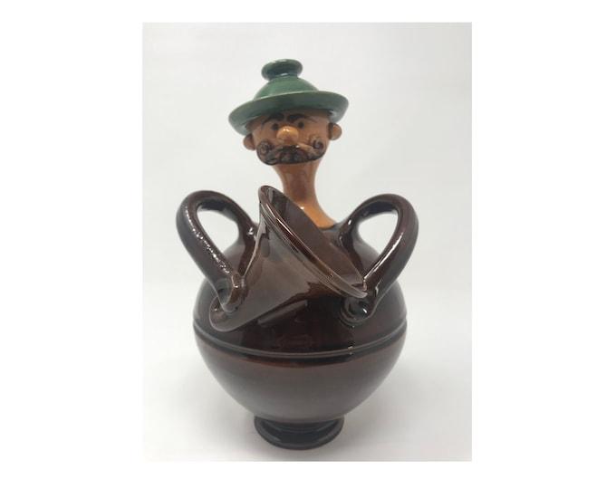 Huge Ceramic Flask, Antique Flask, Hungarian Pottery, Huge Flask, Folk Ceramic, Statue Flask