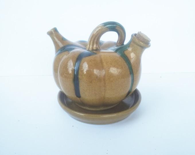 Pumpkin Ceramic, Pouring Vinegar, Oil Vinegar, Vinegar Decanter, Ceramic Decanter
