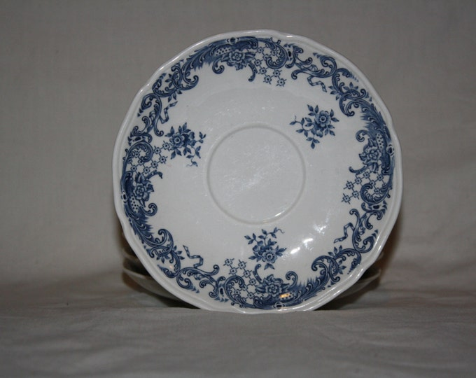 Mettlach Plate, Villeroy & Boch Blue Porcelain, Mettlach Porcelain, 4 pieces tea coasters, German Porcelain, Rare porcelain